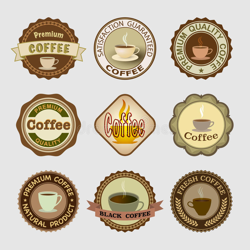 Διακριτικά καφέ απεικόνιση αποθεμάτων