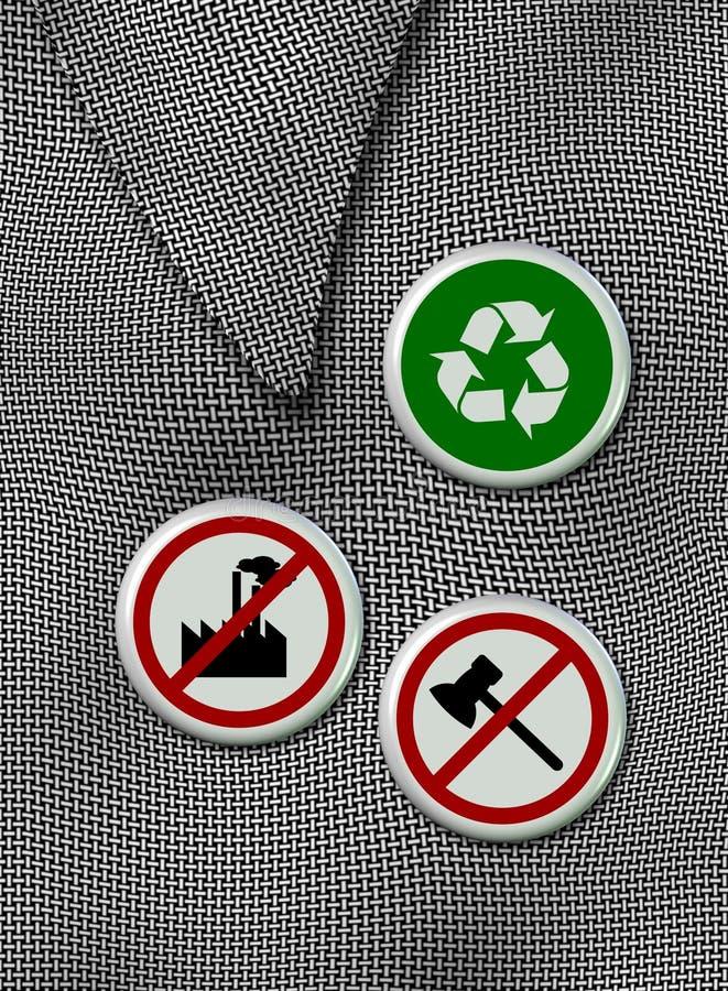 διακριτικά περιβαλλοντικά διανυσματική απεικόνιση