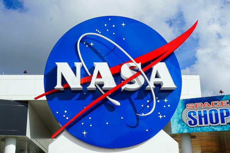 Διακριτικά της NASA Διαστημικών Κέντρων Κένεντι στοκ φωτογραφίες