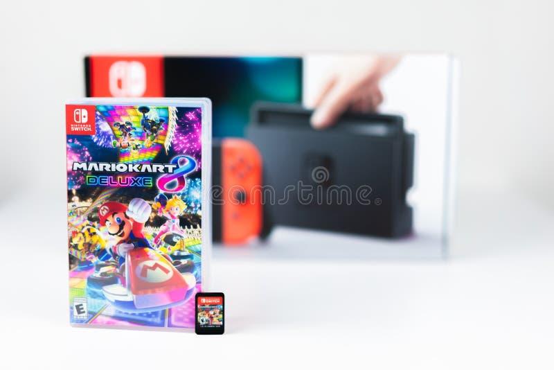 Διακόπτης Mario Kart λουξ 8 της Nintendo στοκ εικόνα