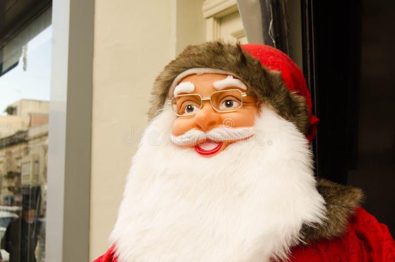 Διακόσμηση έννοιας πνευμάτων Χριστουγέννων κουκλών Άγιου Βασίλη στοκ φωτογραφία με δικαίωμα ελεύθερης χρήσης