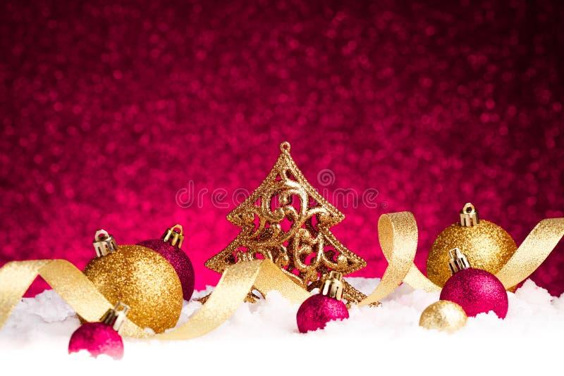 Διακόσμηση δέντρων έλατου Χριστουγέννων στοκ εικόνες
