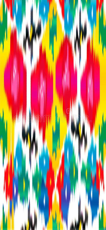 Διακόσμηση ατλάντων Khan ikat ελεύθερη απεικόνιση δικαιώματος