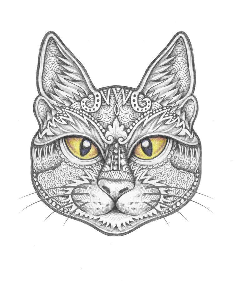Διακόσμηση διακοσμήσεων γατών απεικόνιση αποθεμάτων