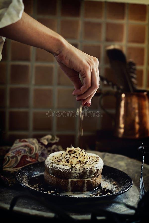 Διακόσμηση κέικ στοκ εικόνα