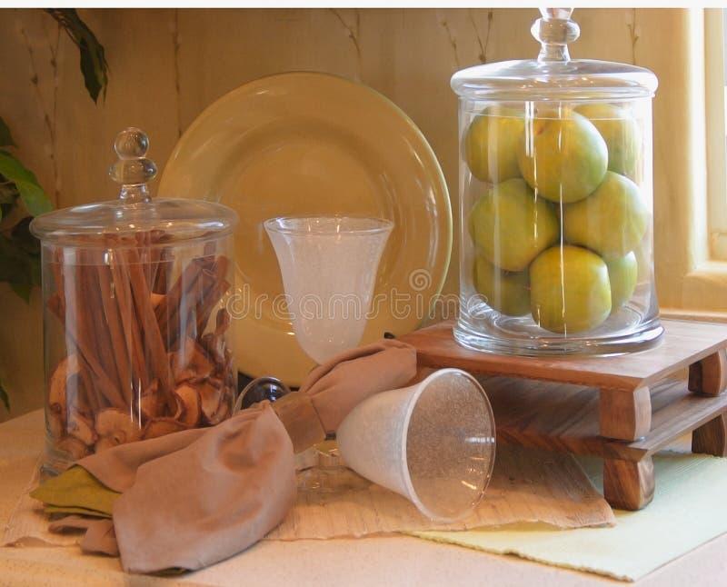 διακόσμηση κανέλας μήλων στοκ εικόνα