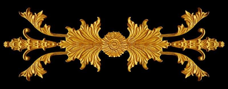 Διακόσμηση καλυμμένου του χρυσός εκλεκτής ποιότητας floral, βικτοριανού ύφους στοκ φωτογραφία