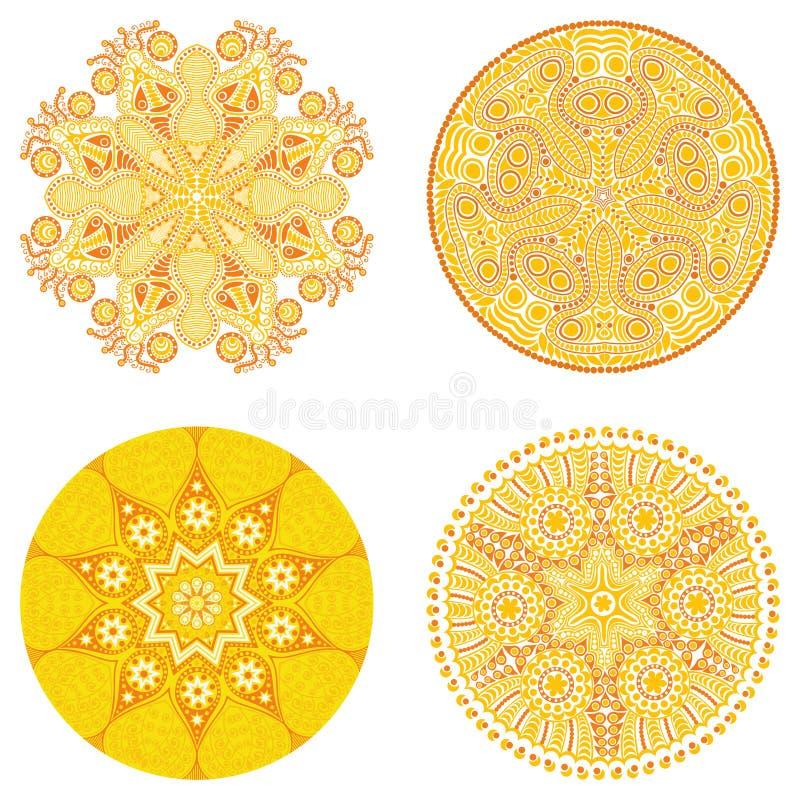 Διακόσμηση κύκλων, διακοσμητική στρογγυλή συλλογή δαντελλών ελεύθερη απεικόνιση δικαιώματος