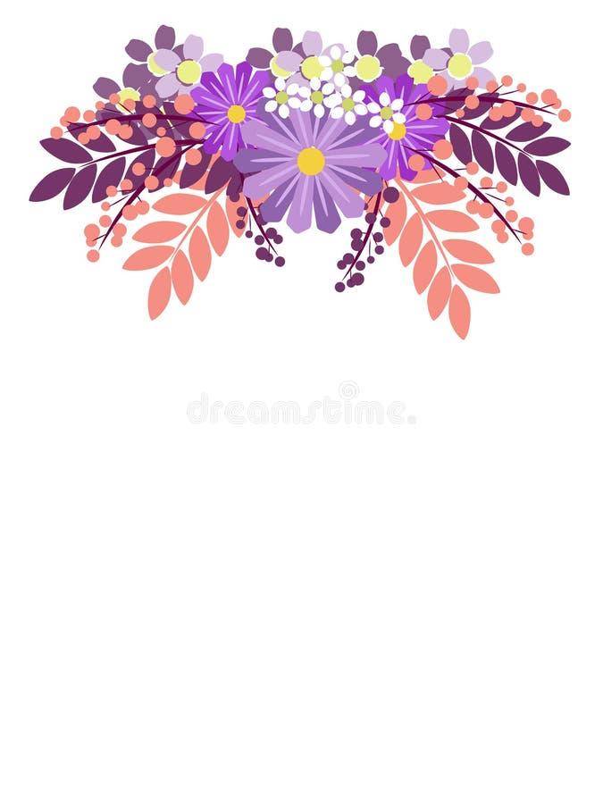 Διακόσμηση λουλουδιών Στο μινιμαλιστικό ύφος Επίπεδο isometric διάνυσμα ελεύθερη απεικόνιση δικαιώματος