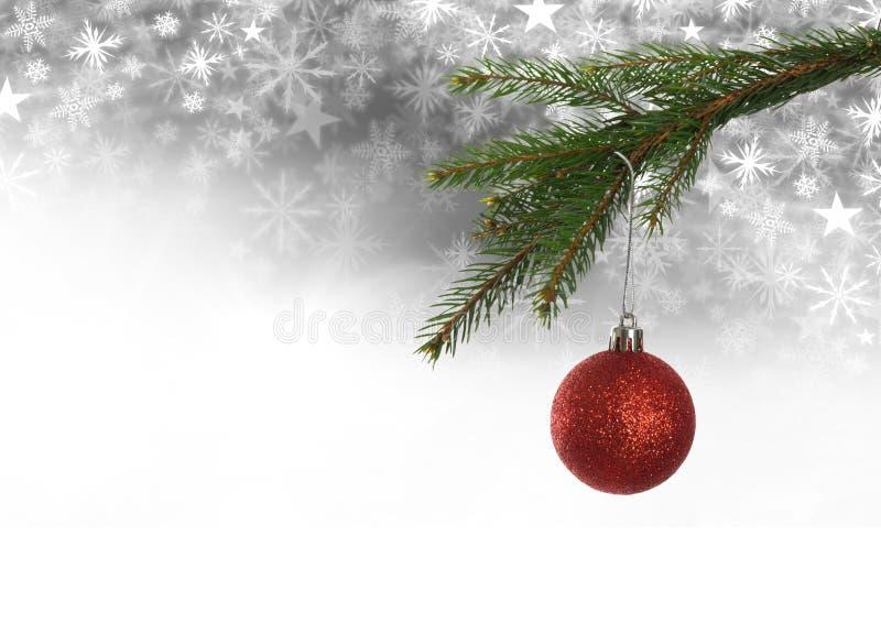 Διακόσμηση μπιχλιμπιδιών Χριστουγέννων και Snowflake σχέδιο Χριστουγέννων και κενό διάστημα στοκ φωτογραφίες με δικαίωμα ελεύθερης χρήσης