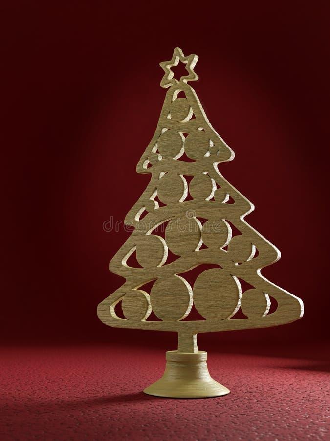 Διακόσμηση ξύλινου χριστουγεννιάτικου δέντρου στοκ φωτογραφίες με δικαίωμα ελεύθερης χρήσης