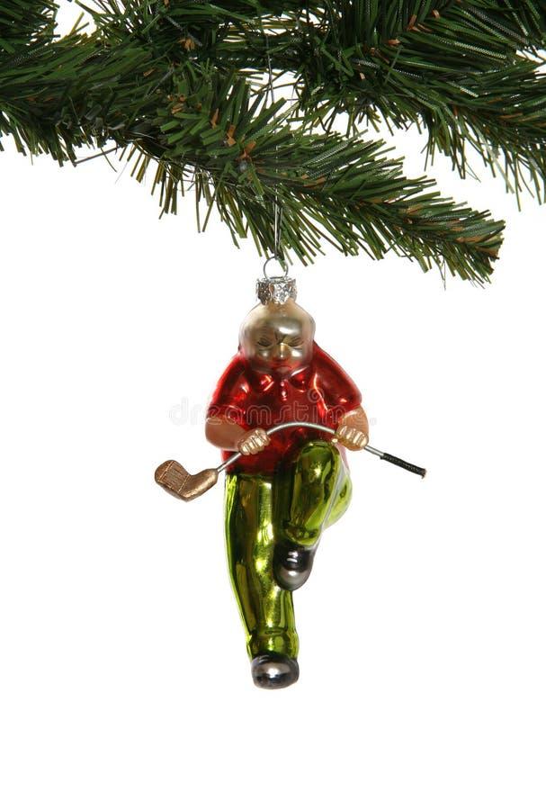 διακόσμηση παικτών γκολφ Χριστουγέννων στοκ φωτογραφίες με δικαίωμα ελεύθερης χρήσης