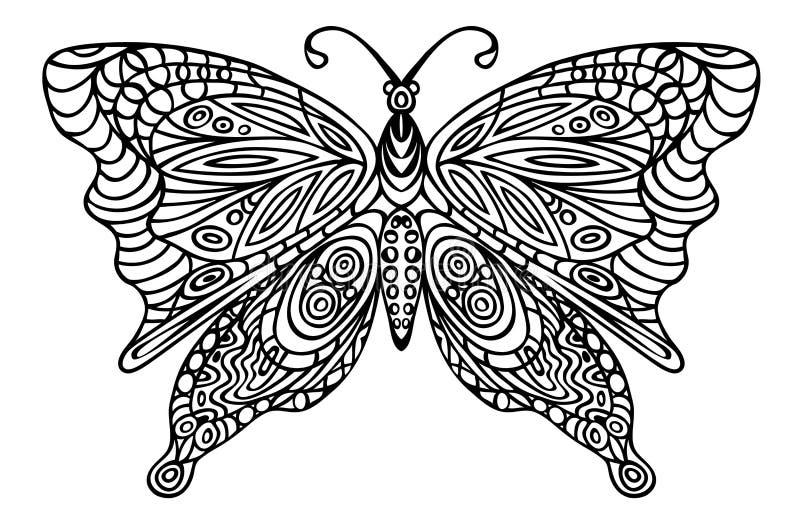 Διακόσμηση πεταλούδων σε ένα άσπρο υπόβαθρο ελεύθερη απεικόνιση δικαιώματος