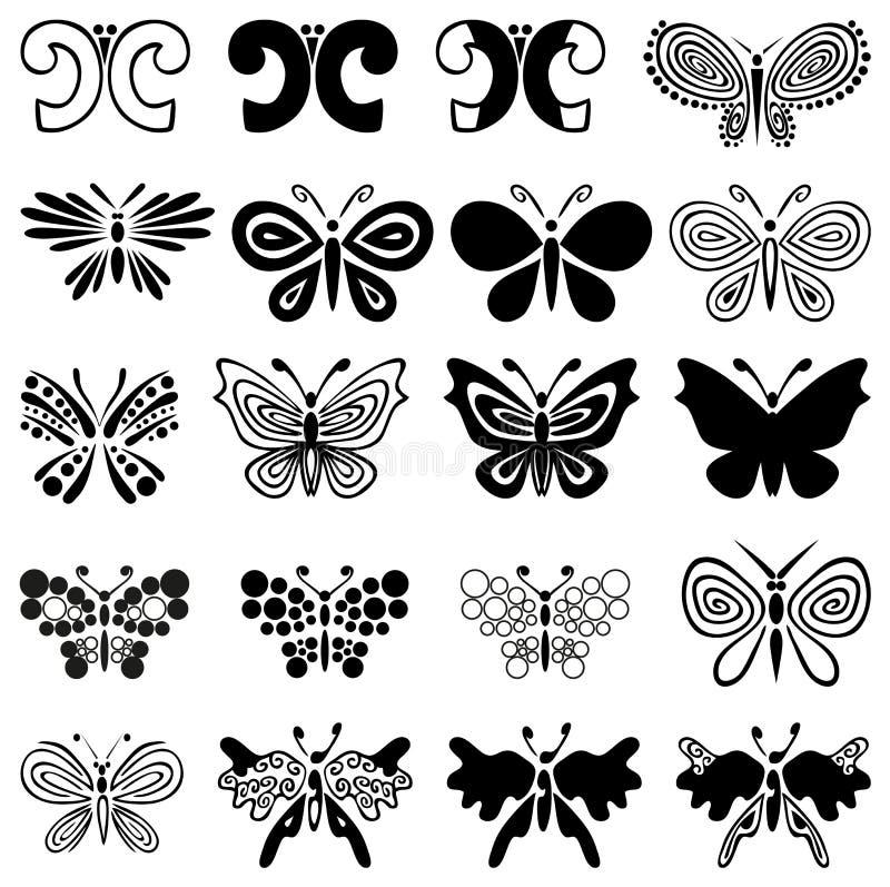 Διακόσμηση πεταλούδων απεικόνιση αποθεμάτων