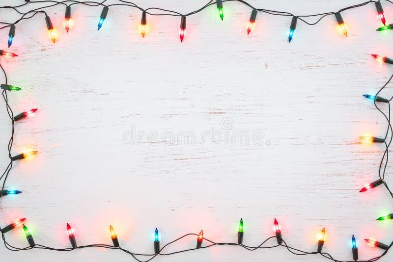 Διακόσμηση πλαισίων βολβών φω'των Χριστουγέννων στοκ φωτογραφίες με δικαίωμα ελεύθερης χρήσης