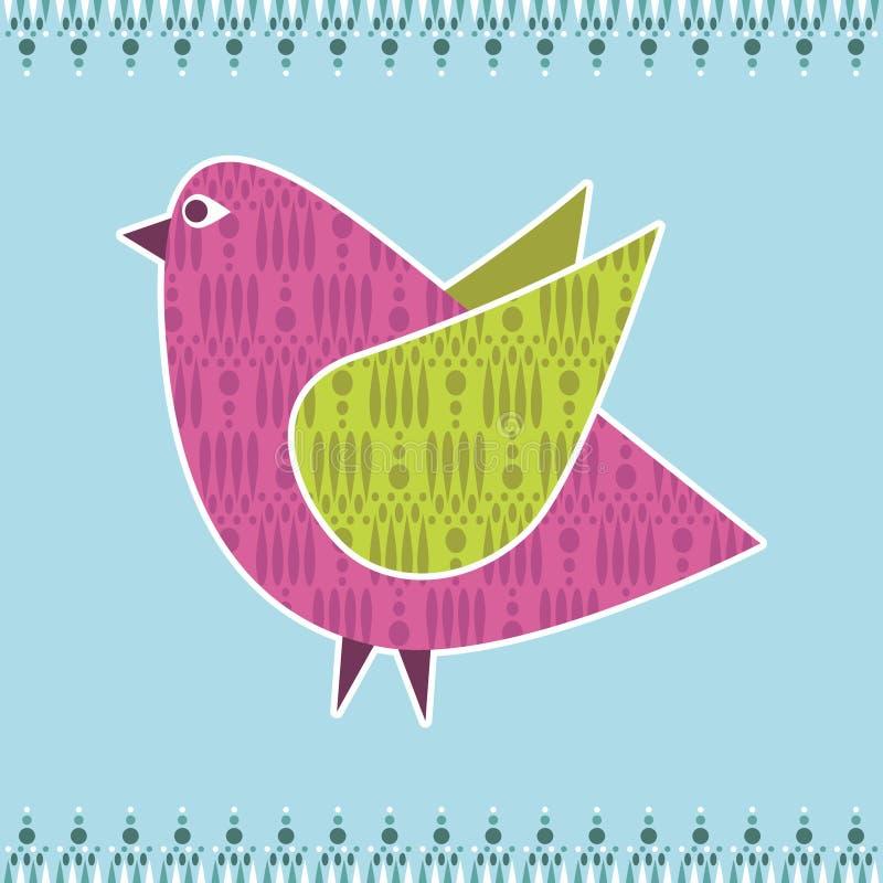διακόσμηση πουλιών διανυσματική απεικόνιση