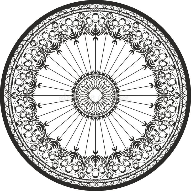Διακόσμηση σε έναν κύκλο - χυτοχάλυβας και διακόσμηση επεξεργασμένου σιδήρου ελεύθερη απεικόνιση δικαιώματος