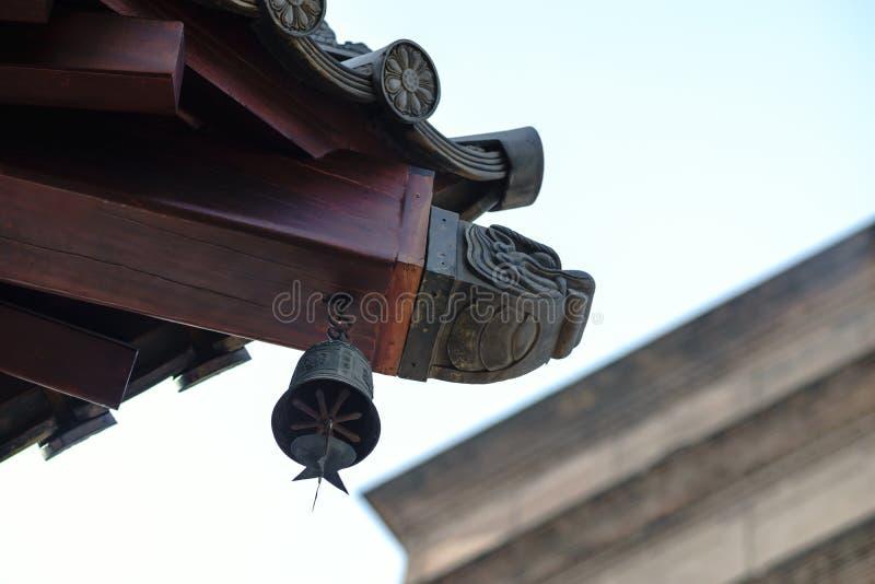 Διακόσμηση σε μια στέγη ναών στοκ εικόνες