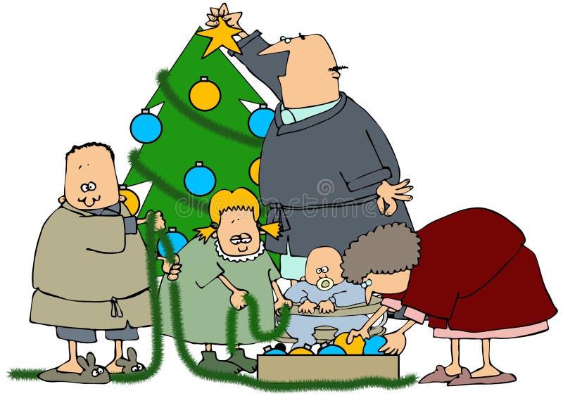 διακόσμηση του οικογενειακού δέντρου διανυσματική απεικόνιση