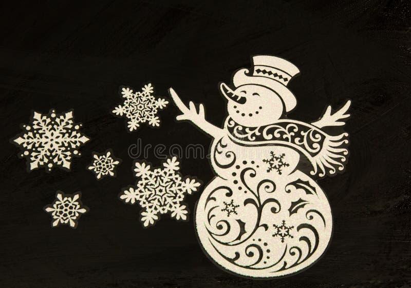 Διακόσμηση Χριστουγέννων απομονωμένος blac οριζόντιος στοκ φωτογραφία με δικαίωμα ελεύθερης χρήσης