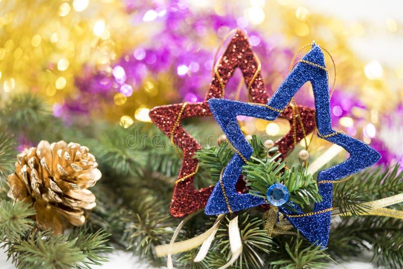 Διακόσμηση Χριστουγέννων στην αφηρημένη ανασκόπηση στοκ φωτογραφίες με δικαίωμα ελεύθερης χρήσης