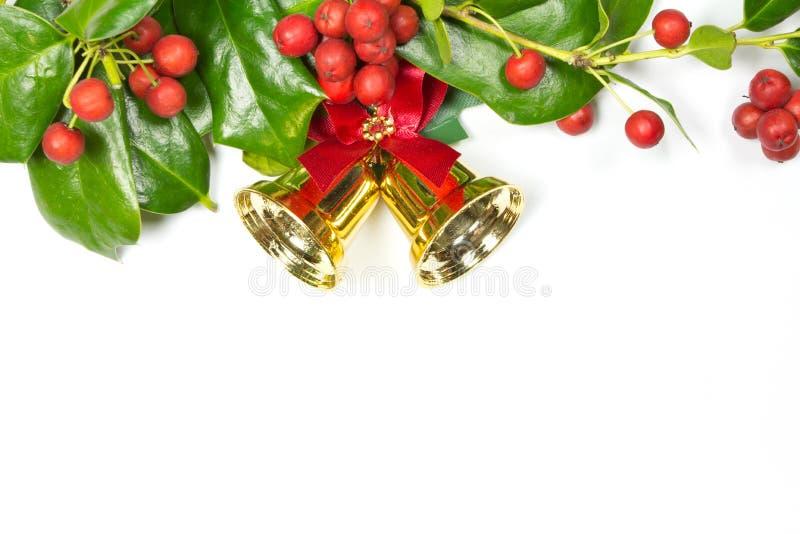 Διακόσμηση Χριστουγέννων της Holly στοκ εικόνα με δικαίωμα ελεύθερης χρήσης
