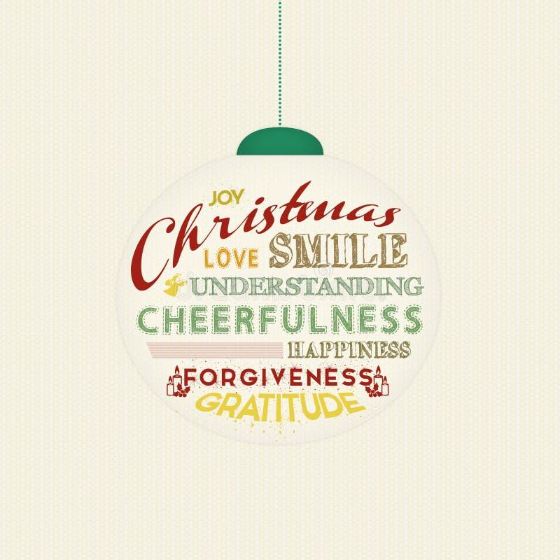 Διακόσμηση χριστουγεννιάτικων δέντρων με τις μαγικές λέξεις ελεύθερη απεικόνιση δικαιώματος
