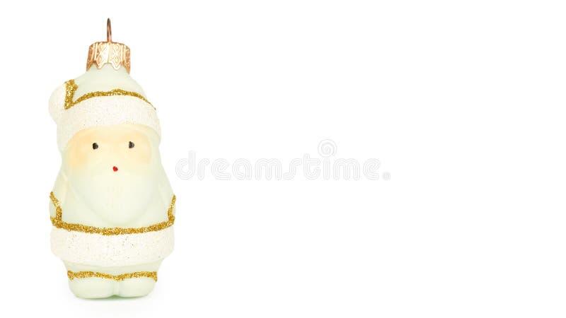Διακόσμηση Cristmas, κεραμικός αριθμός Άγιου Βασίλη που απομονώνεται στο άσπρο υπόβαθρο Νέο αντικείμενο έτους διάστημα αντιγράφων στοκ φωτογραφία