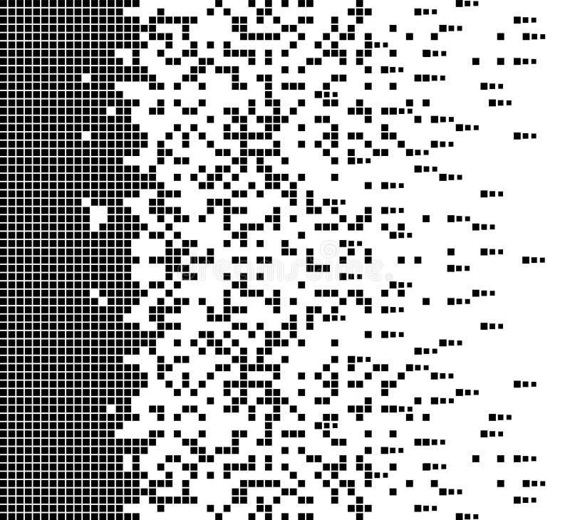 Διαλυμένο γεμισμένο τετραγωνικό διαστιγμένο διανυσματικό εικονίδιο με την επίδραση αποσύνθεσης Τα στοιχεία ορθογωνίων ομαδοποιούν διανυσματική απεικόνιση