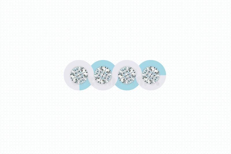 Διαμάντια κοσμήματος στο ελαφρύ υπόβαθρο σχεδίων τρισδιάστατη απόδοση στοκ φωτογραφίες