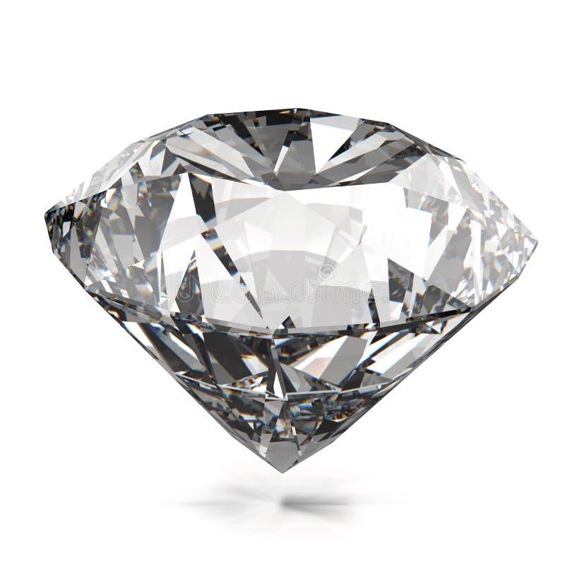 Διαμάντια που απομονώνονται διανυσματική απεικόνιση