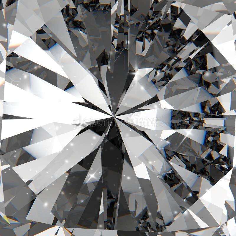 Διαμάντια τρισδιάστατα στη σύνθεση απεικόνιση αποθεμάτων