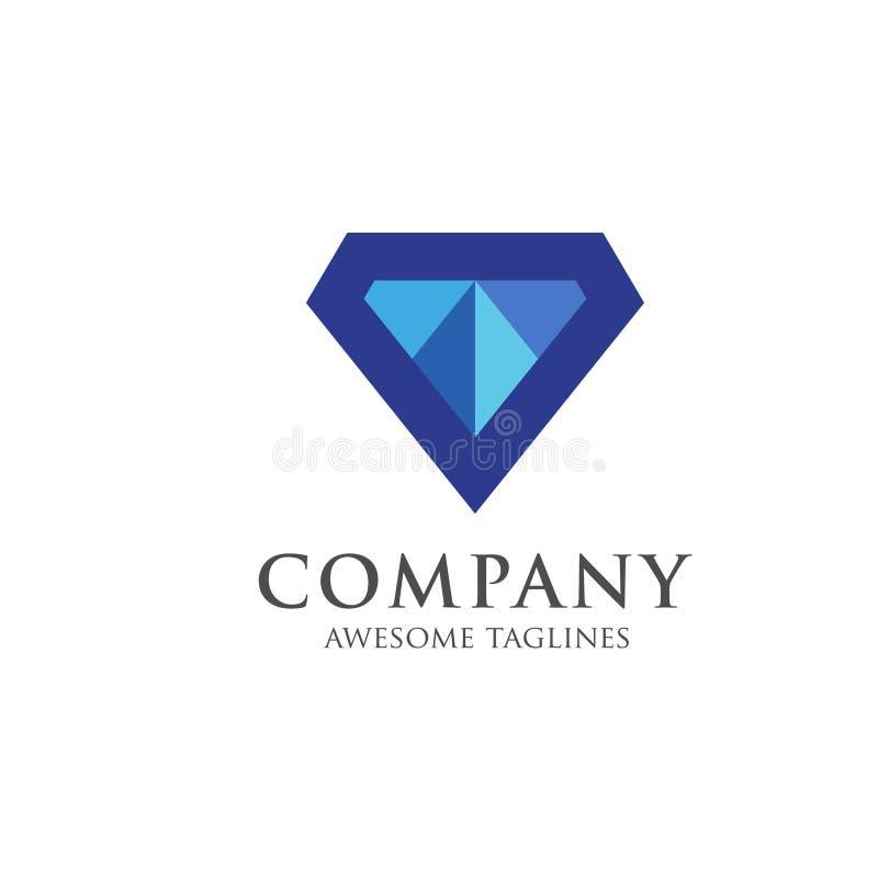 Διαμάντι, ασφάλιστρο λογότυπων πολύτιμων λίθων, διάνυσμα διαμαντιών εξαιρετικής ποιότητας διανυσματική απεικόνιση