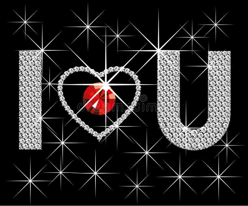 διαμάντι ι λέξεις αγάπης εσείς ελεύθερη απεικόνιση δικαιώματος