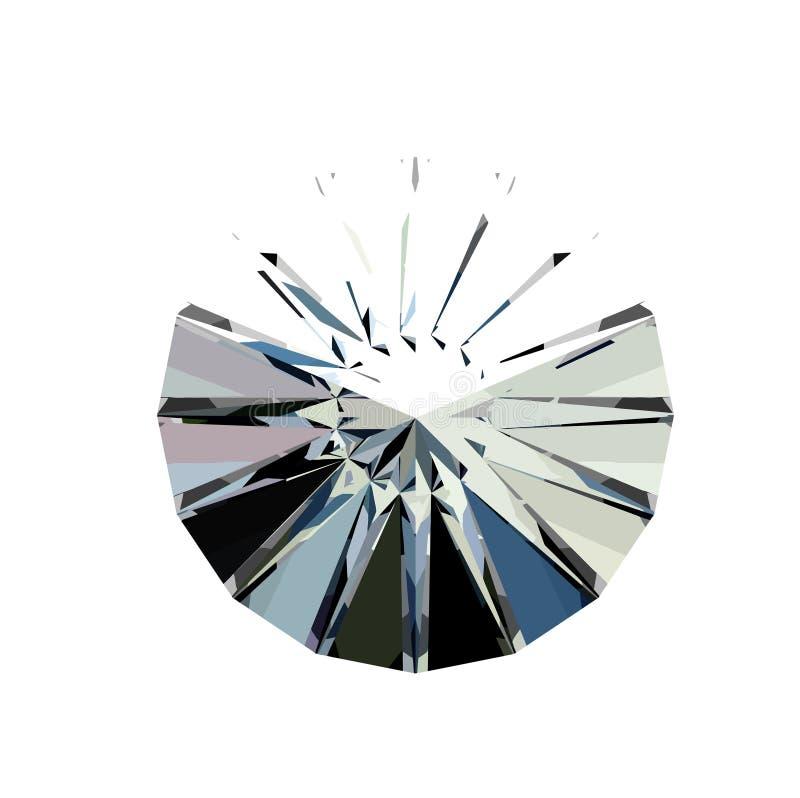 Διαμάντι κατά τη τοπ άποψη επίσης corel σύρετε το διάνυσμα απεικόνισης ελεύθερη απεικόνιση δικαιώματος