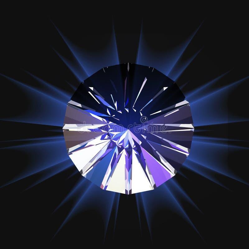 Διαμάντι κατά τη τοπ άποψη επίσης corel σύρετε το διάνυσμα απεικόνισης απεικόνιση αποθεμάτων