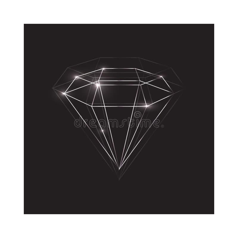 Διαμάντι ελεύθερη απεικόνιση δικαιώματος