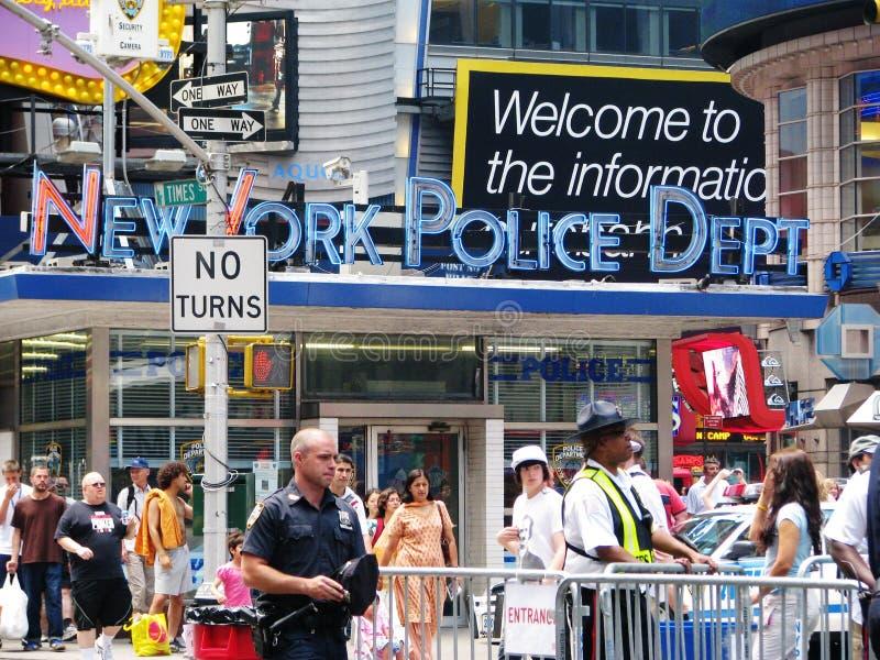 Διαμέρισμα αστυνομίας πόλεων της Νέας Υόρκης στη Times Square στοκ εικόνες