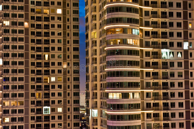 Διαμέρισμα τη νύχτα στοκ φωτογραφίες με δικαίωμα ελεύθερης χρήσης