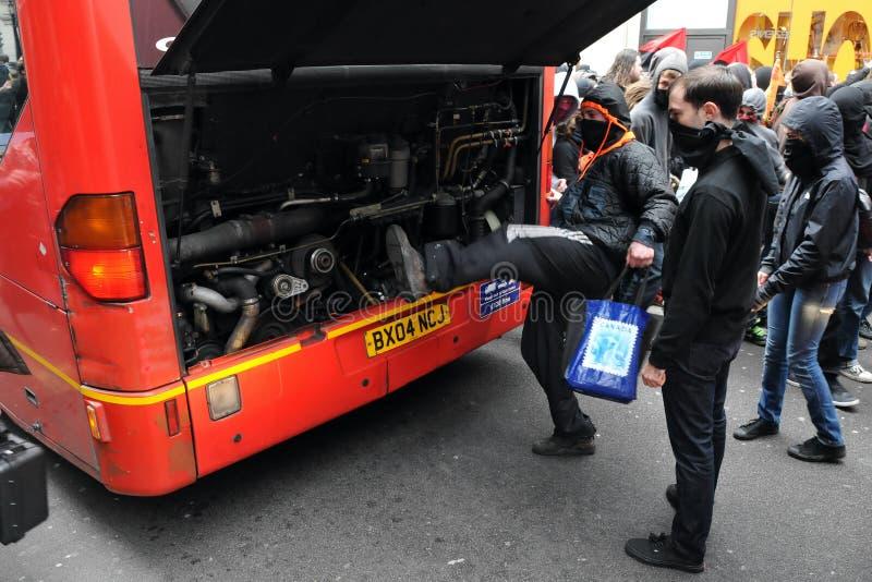 Διαμαρτυρία αντι-αποκοπών στο Λονδίνο στοκ εικόνες