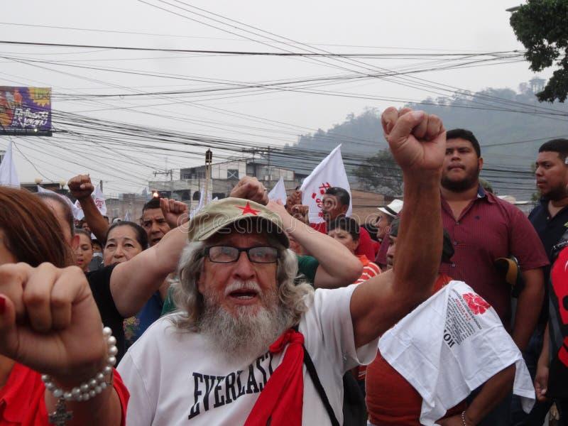 Διαμαρτυρία ενάντια στη δωροδοκία στην Ονδούρα ενάντια στο Juan Ορλάντο Hernandez 41 στοκ φωτογραφία με δικαίωμα ελεύθερης χρήσης