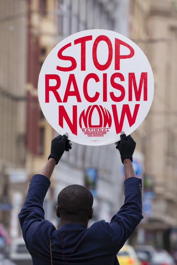 Διαμαρτυρία κατά του ρατσισμού στοκ φωτογραφία
