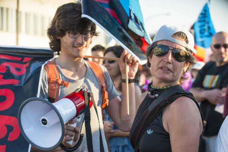 Διαμαρτυρία περιβάλλοντος στοκ φωτογραφίες