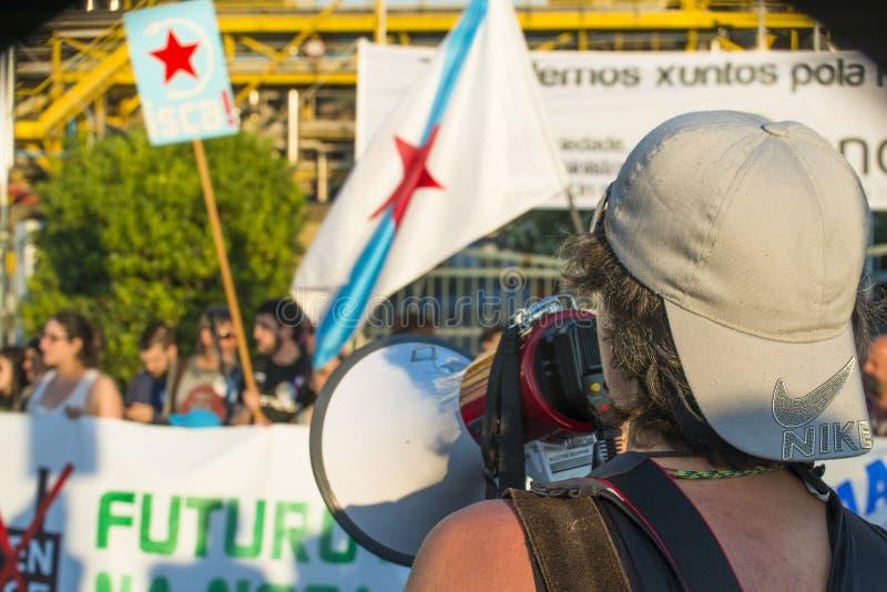 Διαμαρτυρία περιβάλλοντος στοκ φωτογραφίες με δικαίωμα ελεύθερης χρήσης