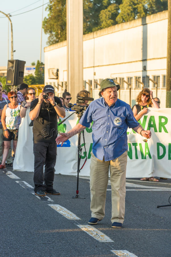 Διαμαρτυρία περιβάλλοντος στοκ φωτογραφία με δικαίωμα ελεύθερης χρήσης