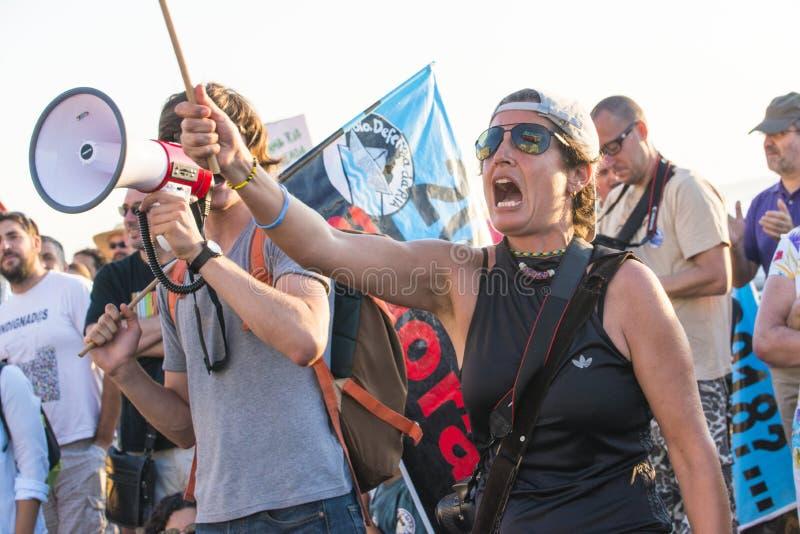 Διαμαρτυρία περιβάλλοντος στοκ εικόνα