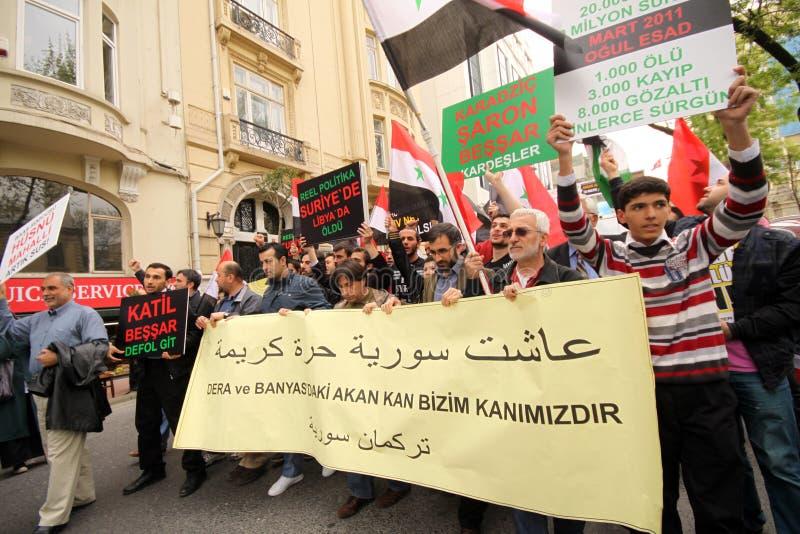 διαμαρτυρία Συρία στοκ φωτογραφίες