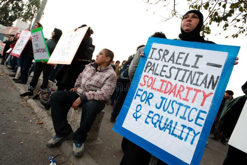 διαμαρτυρία της Ιερουσ&a στοκ εικόνες