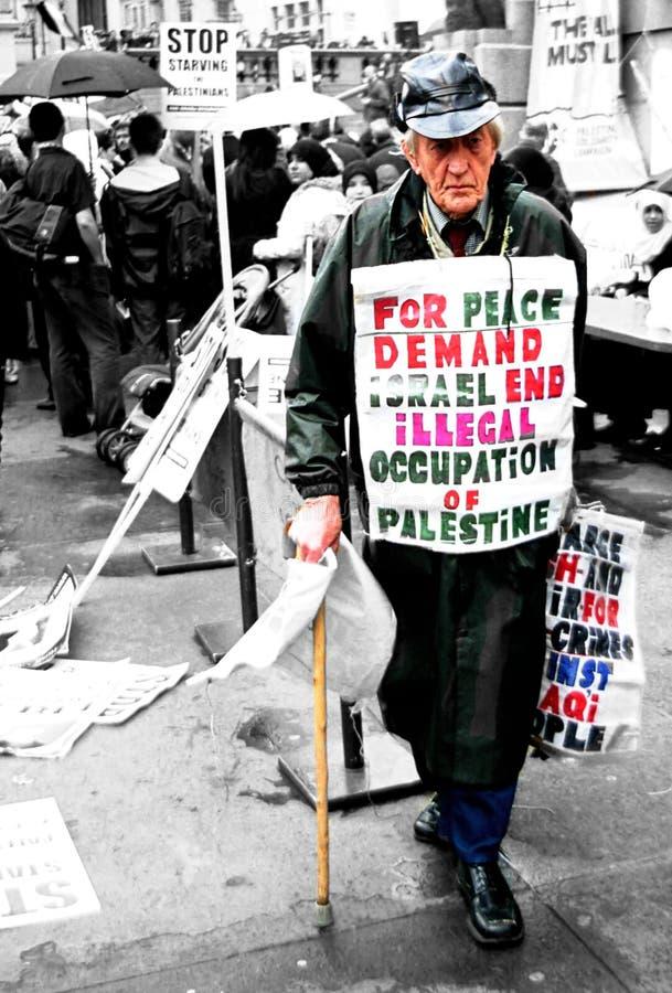 Διαμαρτυρία του Ισραήλ Παλαιστίνη στοκ εικόνα
