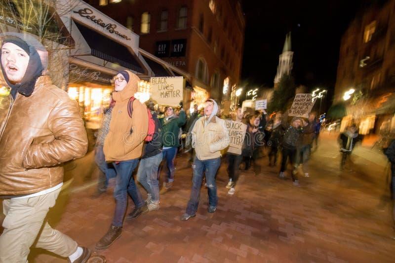 Διαμαρτυρία του Μάικ Μπράουν στοκ εικόνα με δικαίωμα ελεύθερης χρήσης